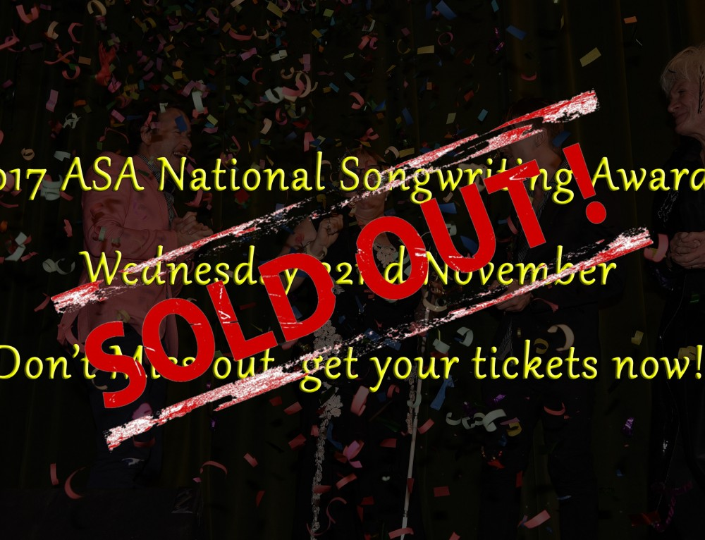 Get your tickets now to the 2017 ASA National Songwriting Awards