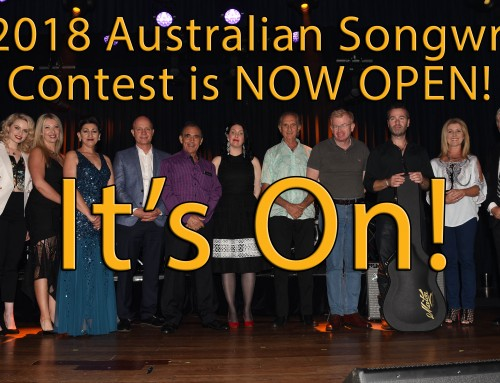 2018 Australian Songwriting Contest Announcement
